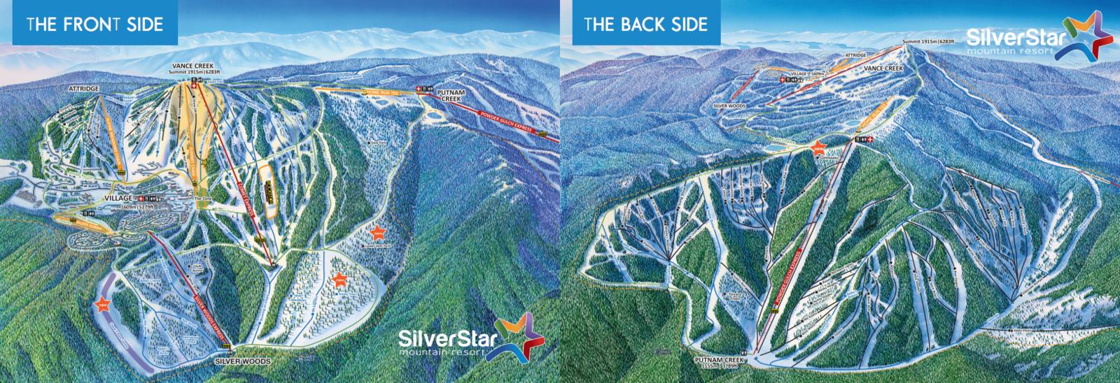 Pistenplan Silver Star Mountain Resort