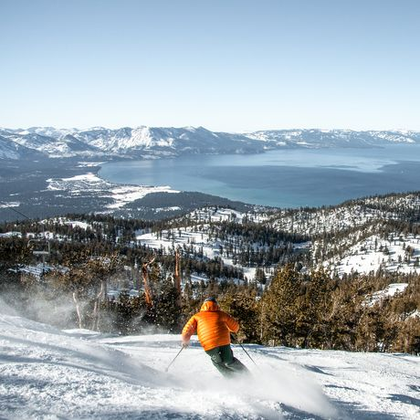 Skifahren im Heavenly Mountain Resort beim Lake Tahoe
