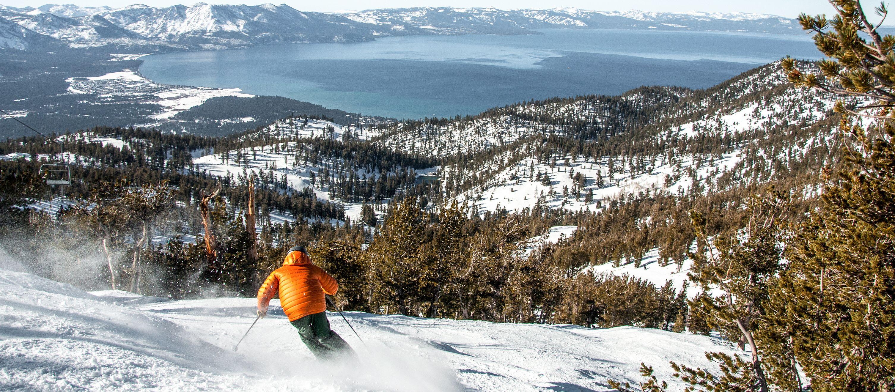 Skifahren im Heavenly Mountain Resort beim Lake Tahoe