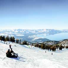 Skipiste im Heavenly Mountain Resort beim Lake Tahoe
