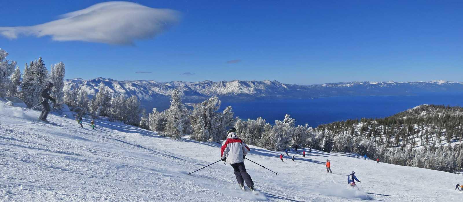 Auf den Pisten von Lake Tahoe