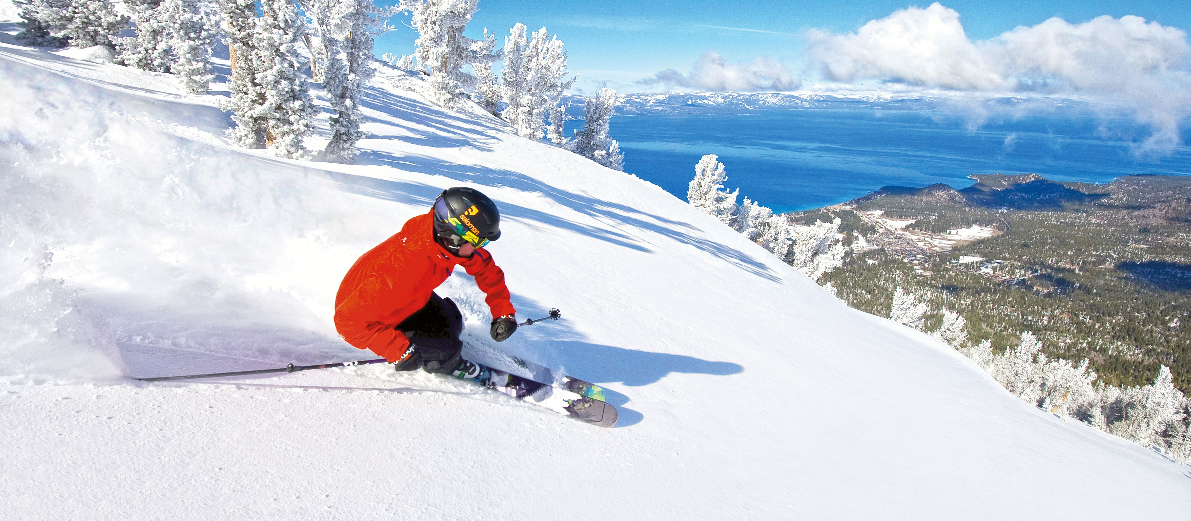 Skifahrer im Deep Snow