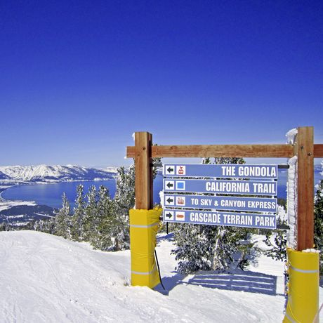 Wegweiser am Lake Tahoe