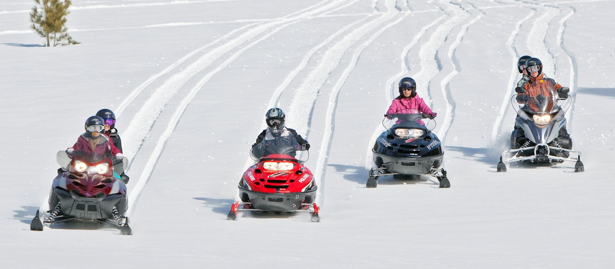 Schneemobil-Spass