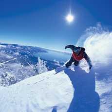 Snowboarding mit Ausblick