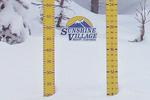 Schneestand auf dem Sunshine Mountain