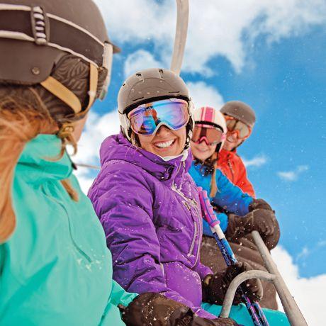 Gruppe im Skilift