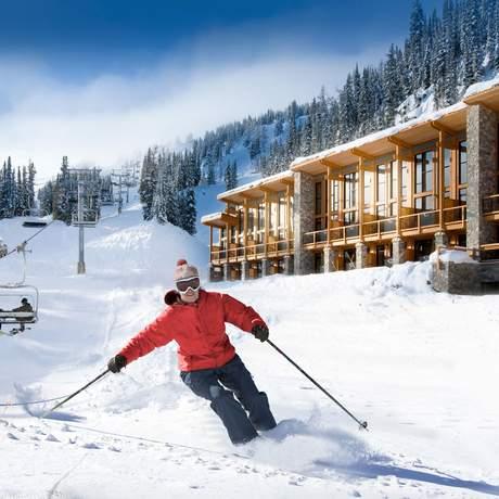 Skifahren an der Sunshine Mountain Lodge in Banff