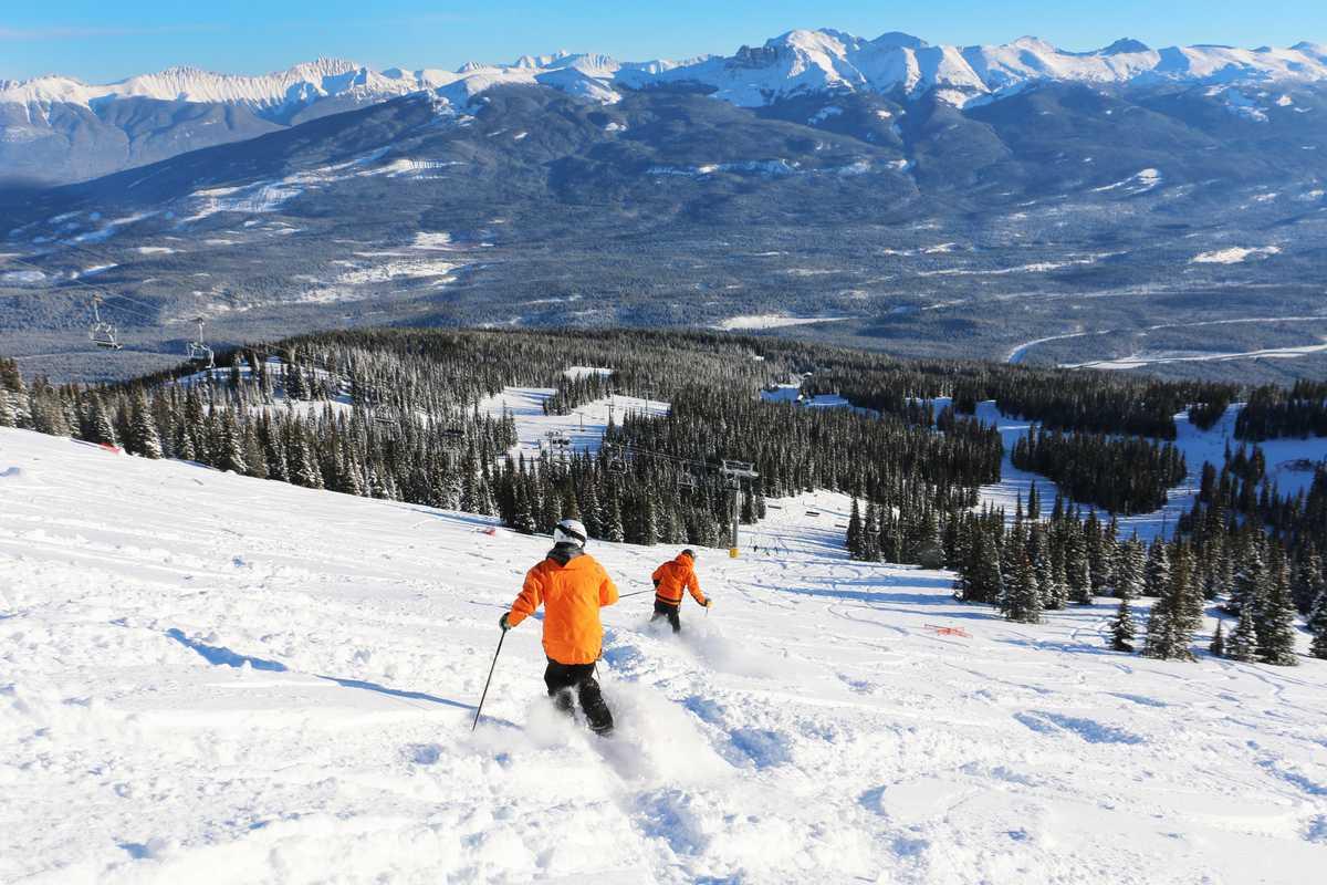 Skifahren im Marmot Basin, Jasper