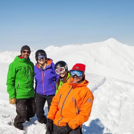 Freunde im Marmot Basin, Alberta