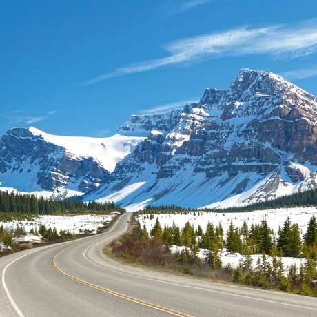 Die Route 93 in Alberta