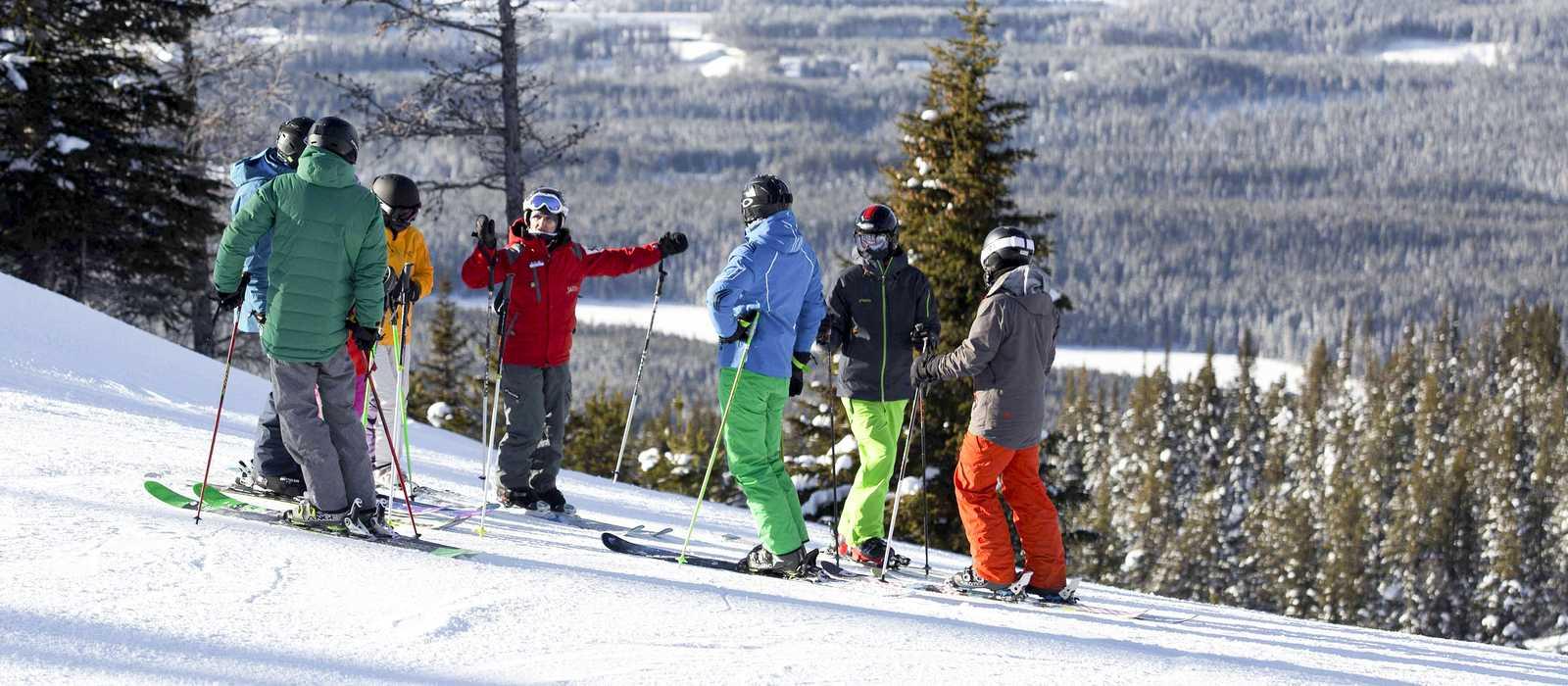 Geführte Skigruppe in Lake Louise