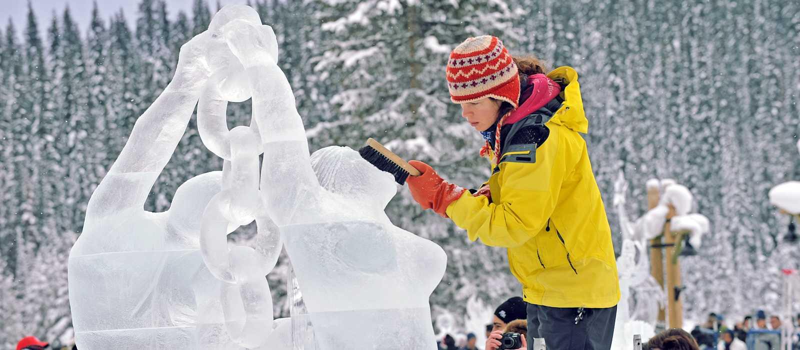 Eisskulpturen in Banff