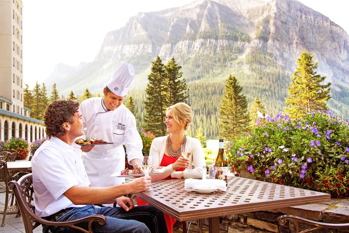 Essen im Fairmont Chateau Lake Louise, Alberta