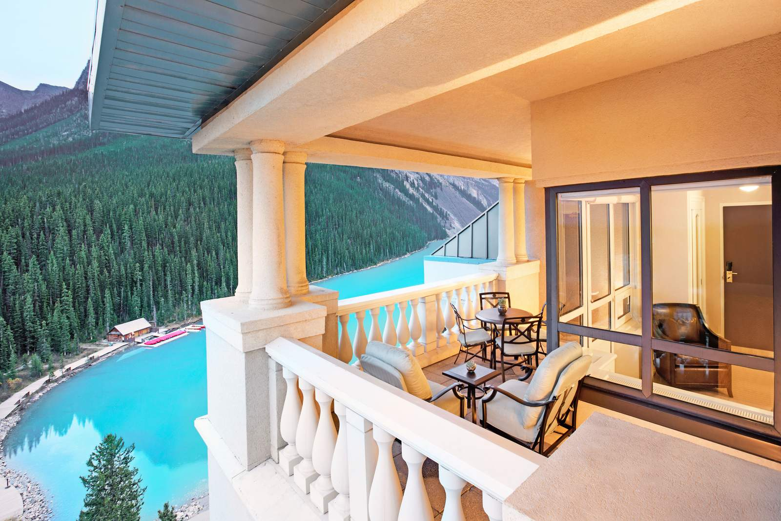 Ausblick von Zimmern mit Seeblick