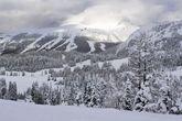 Verschneite Pisten in Kanada