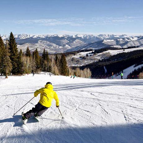 Skifahrer auf Piste bei Beaver Creek