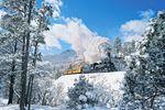 Mit einer Dampflock durch die Winterlandschaft des Bundesstaat Colorado