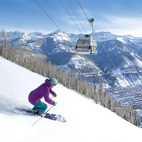 Skifahren in Telluride, Colorado