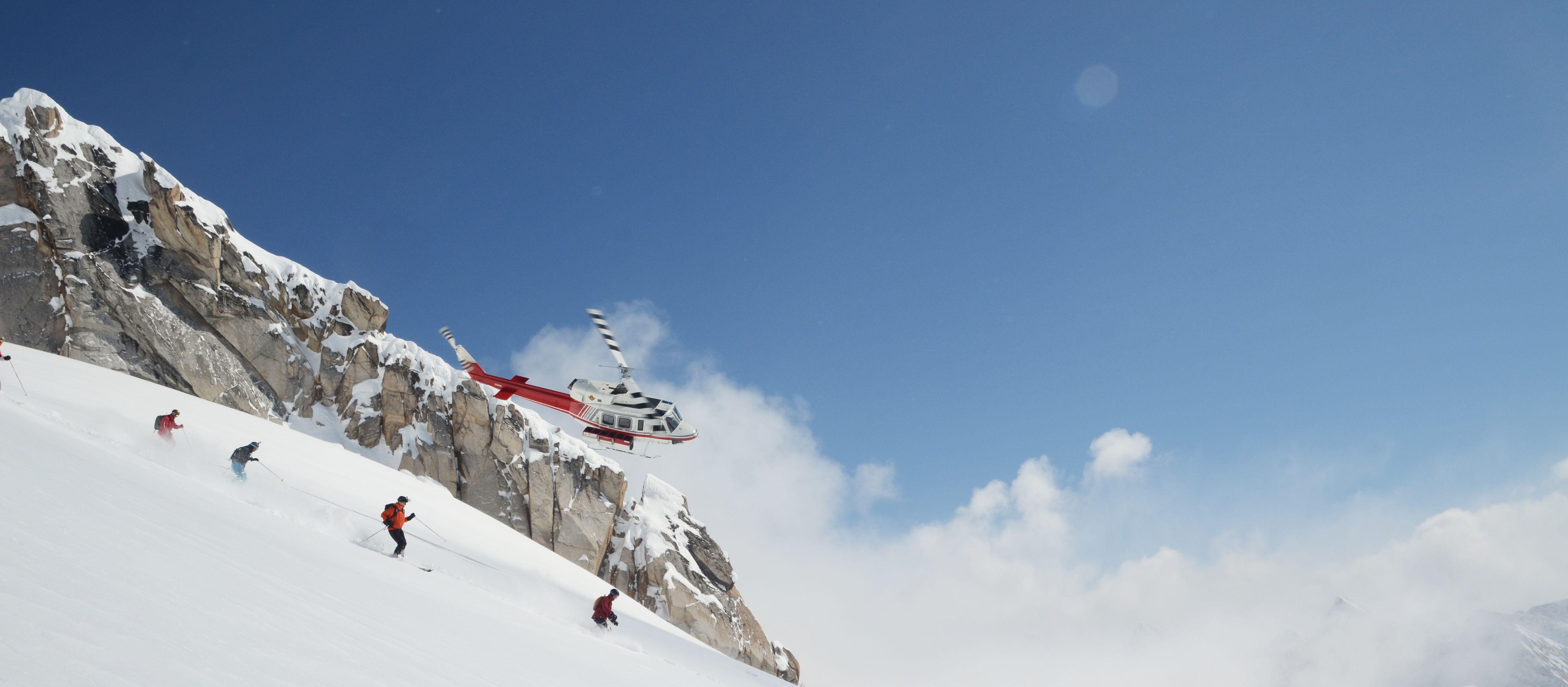 Skifahren mit Helikopter in den Bugaboos