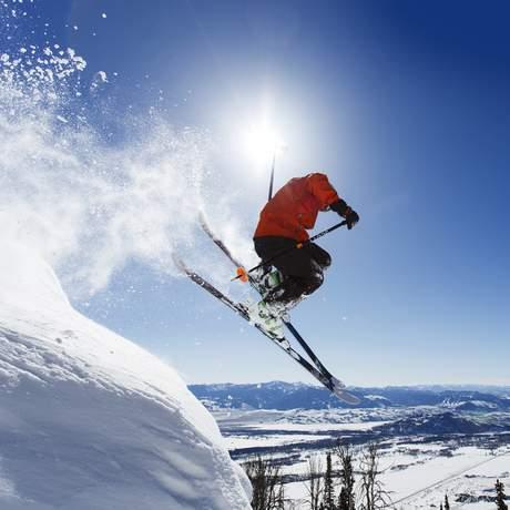 Skifahren in Jackson Hole, Wyoming