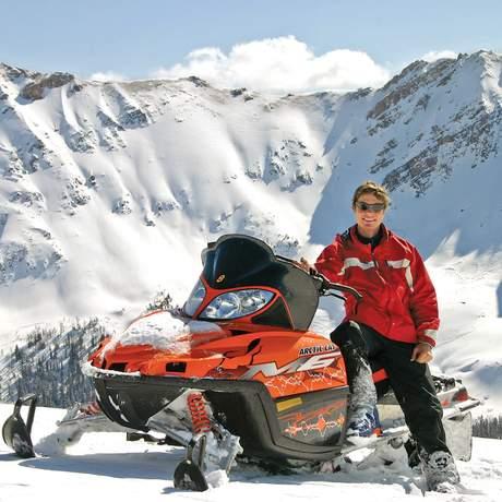 Schneemobil von Toby Creek Adventures
