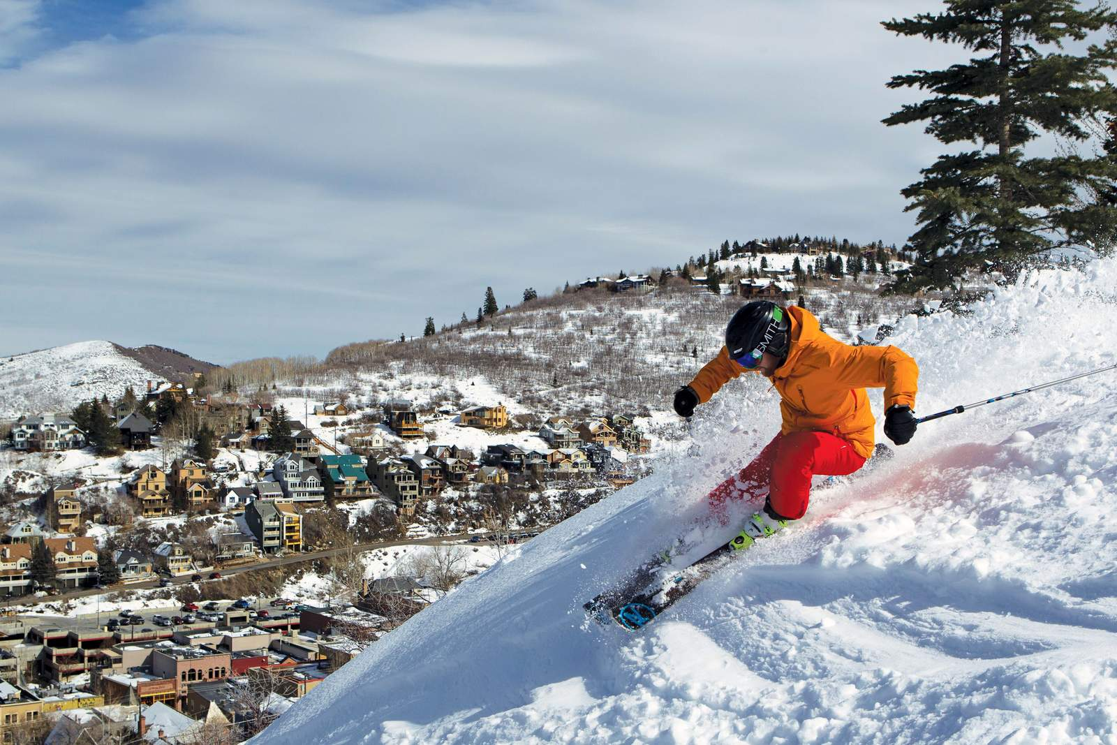 Downhill Skiing, Piste, Town, Vail Resort
