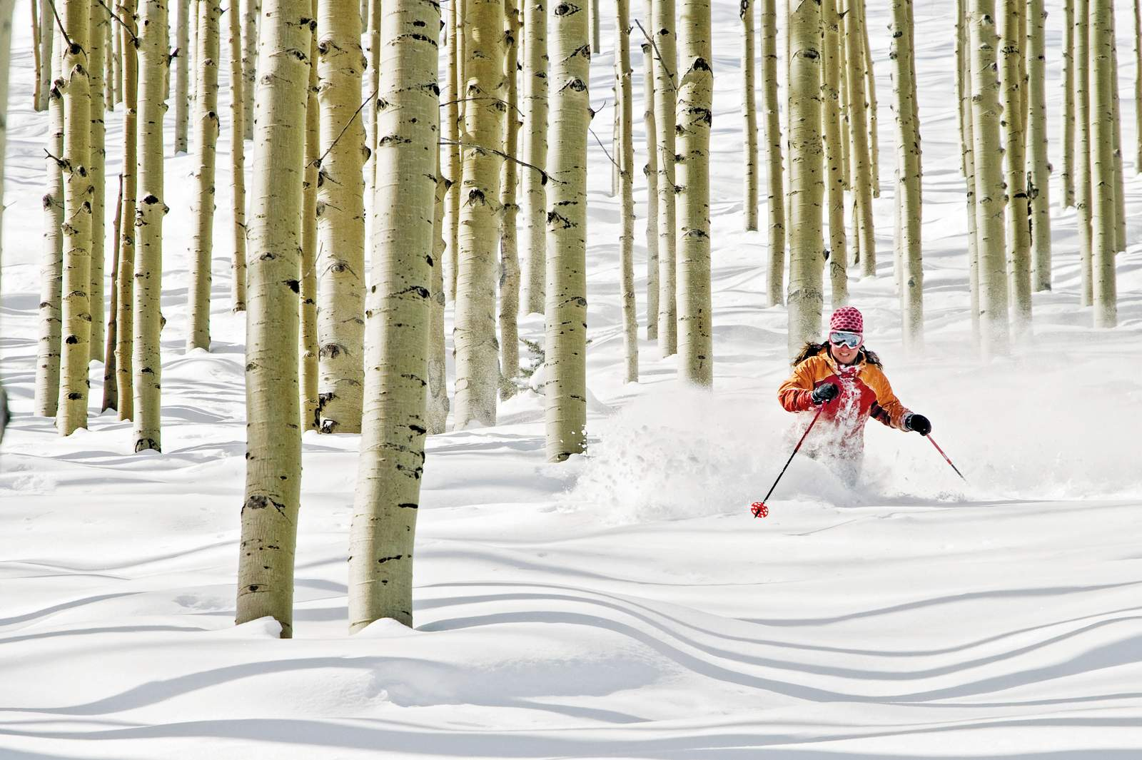 Rebekah Abrahs skiing near the Dreamcatcher Lift at The Canyons.