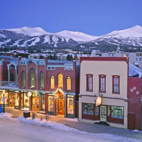 Breckenridge Main Street in winter.