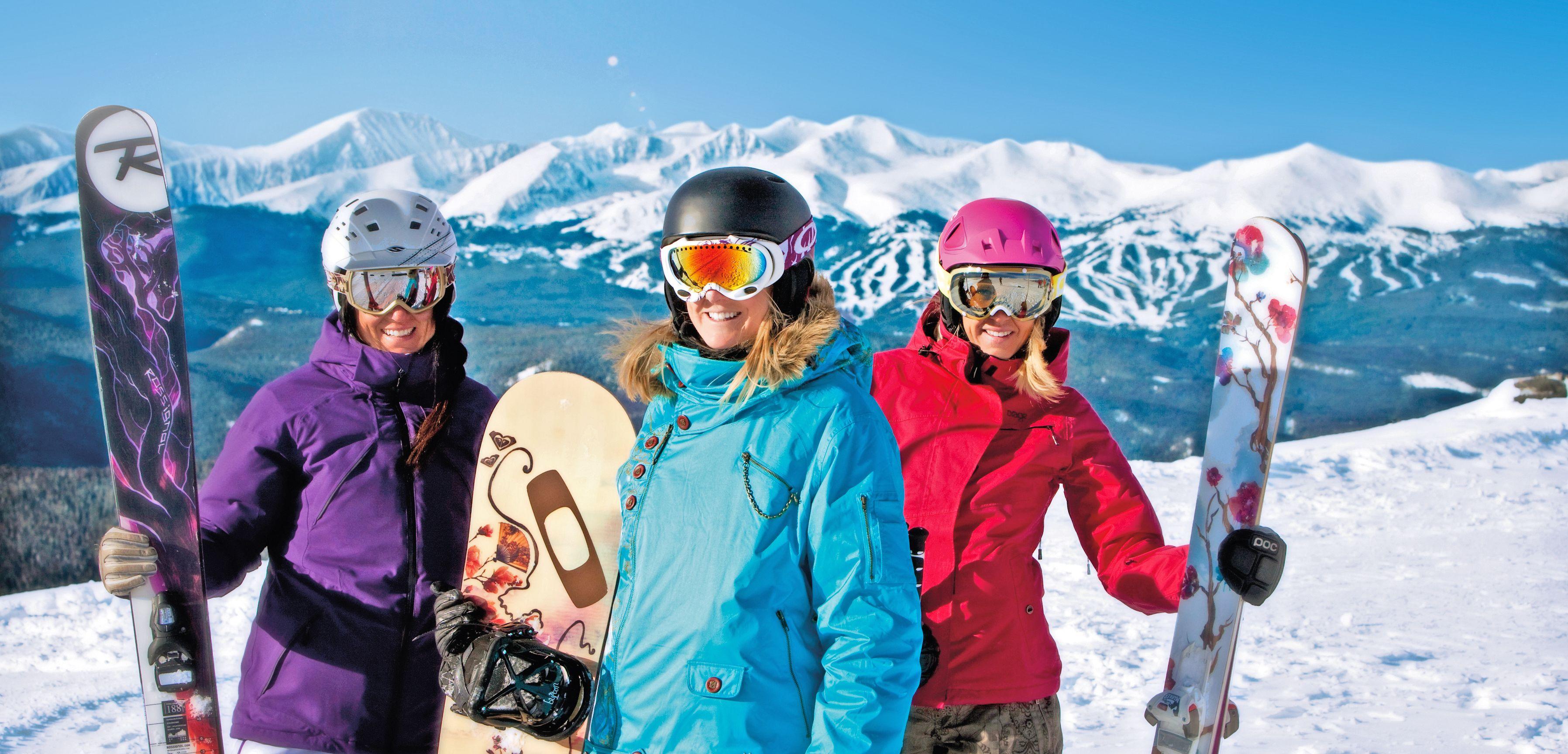 Snowboarderinnen in Keystone