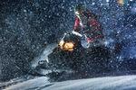 Abends mit dem Schneemobil in Whistler unterwegs