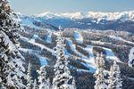 Verschneite Pisten in Whistler in British Columbia