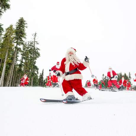 Der Santa Ski Day in Whistler