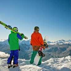 Blick ueber das Skigebiet Whistler Blackcomb