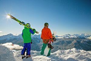Aussicht auf das Ski-Terrain in Whistler/Blackcomb