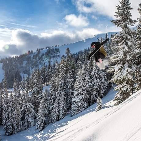 Skifahren in Whistler Blackcomb, Britsh-Columbia