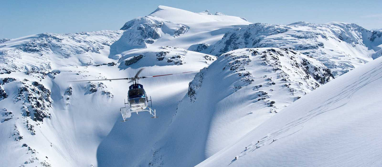 Heli-Skiing in den Coast Mountains bei Whistler, British Colimbia