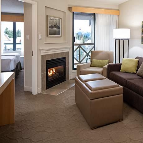 One Bedroom Suite im Delta Hotel in Whistler