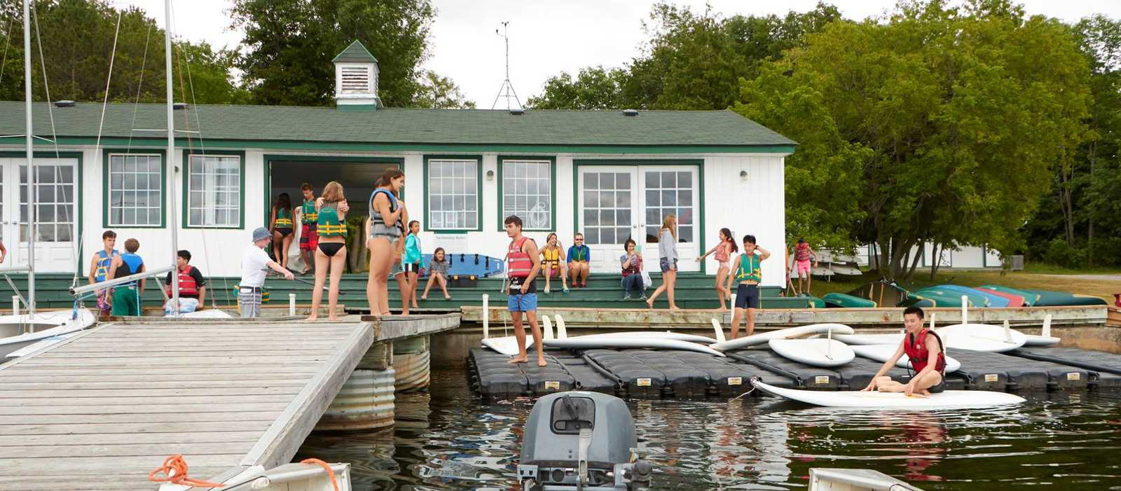 Impressionen eines Lakefield Summer Camps des Canadian International Student Services