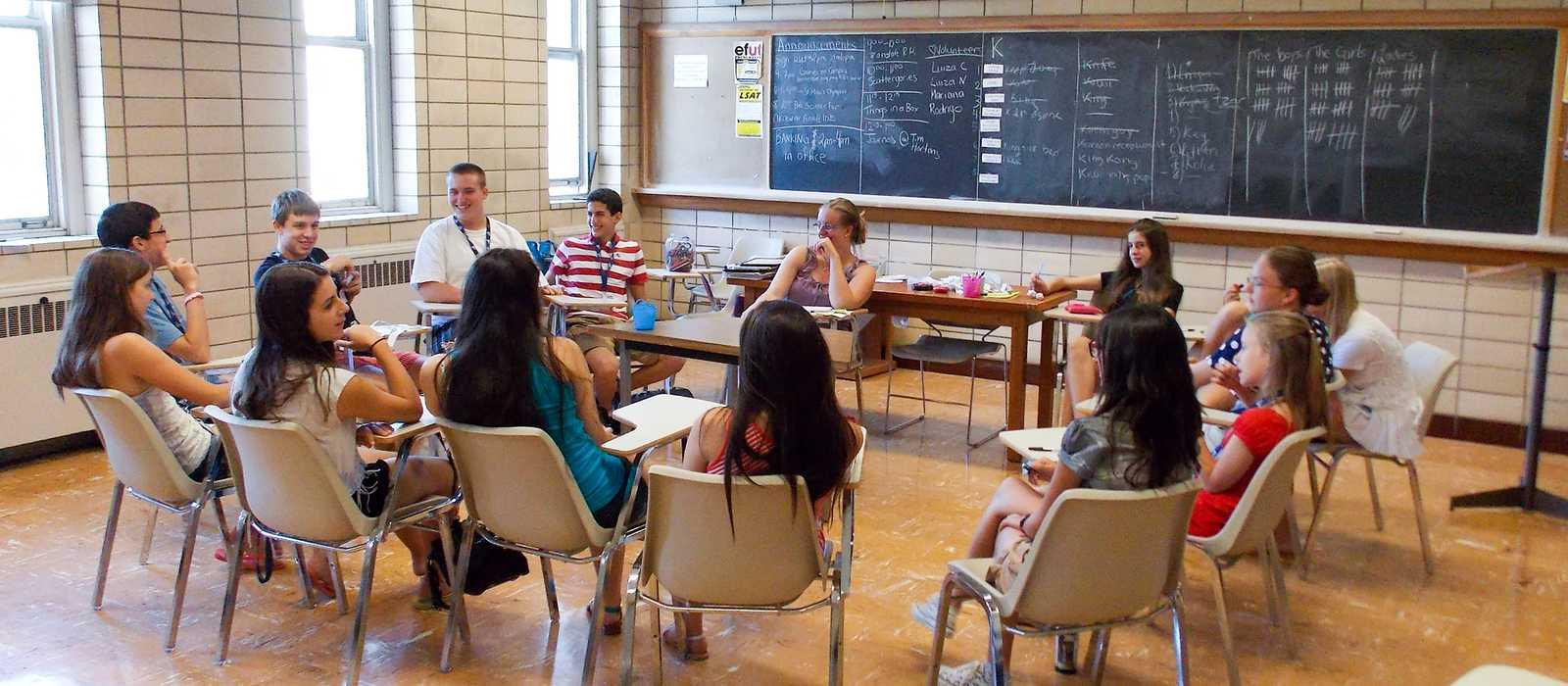 Klassenraum beim CISS Sommercamp im St. Michaels College