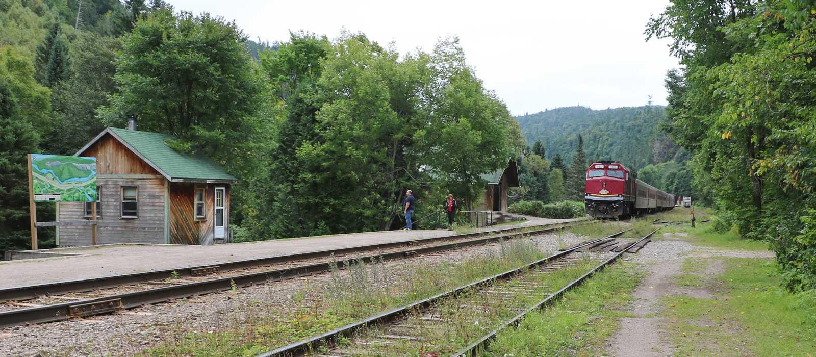 Ein Agawa Canyon Tour Train in Algoma Country, Ontario