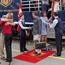 Rcky Mountaineer Service am Bahnsteig