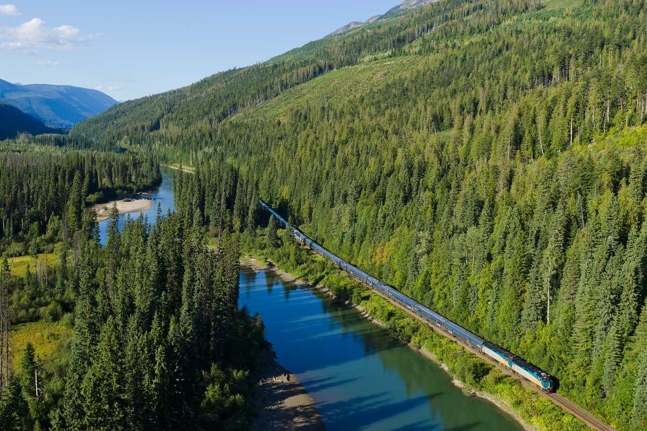 Zugfahrt mit Via Rail