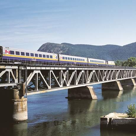 """Unterwegs mit dem """"The Corridor"""" Zuges von VIA Rail Canada"""