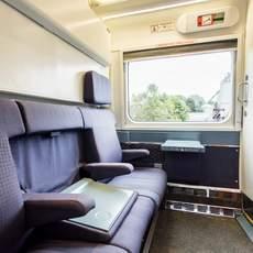 """Eine Kabine des """"The Ocean"""" Zuges von VIA Rail Canada am Tag"""