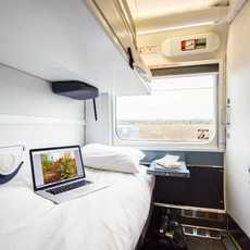 """Eine Schlafkabine des """"The Ocean"""" Zuges von VIA Rail Canada"""