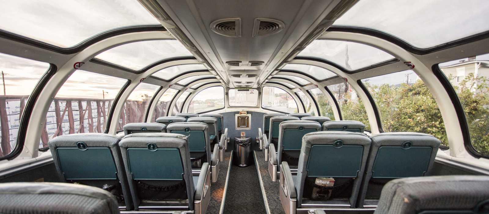 """Ein Abteil des """"The Ocean"""" Zuges von VIA Rail Canada"""