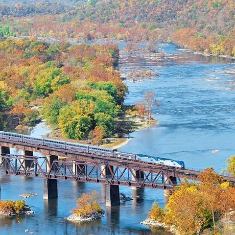 Amtrak Capitol Limited an der Ostkueste unterwegs